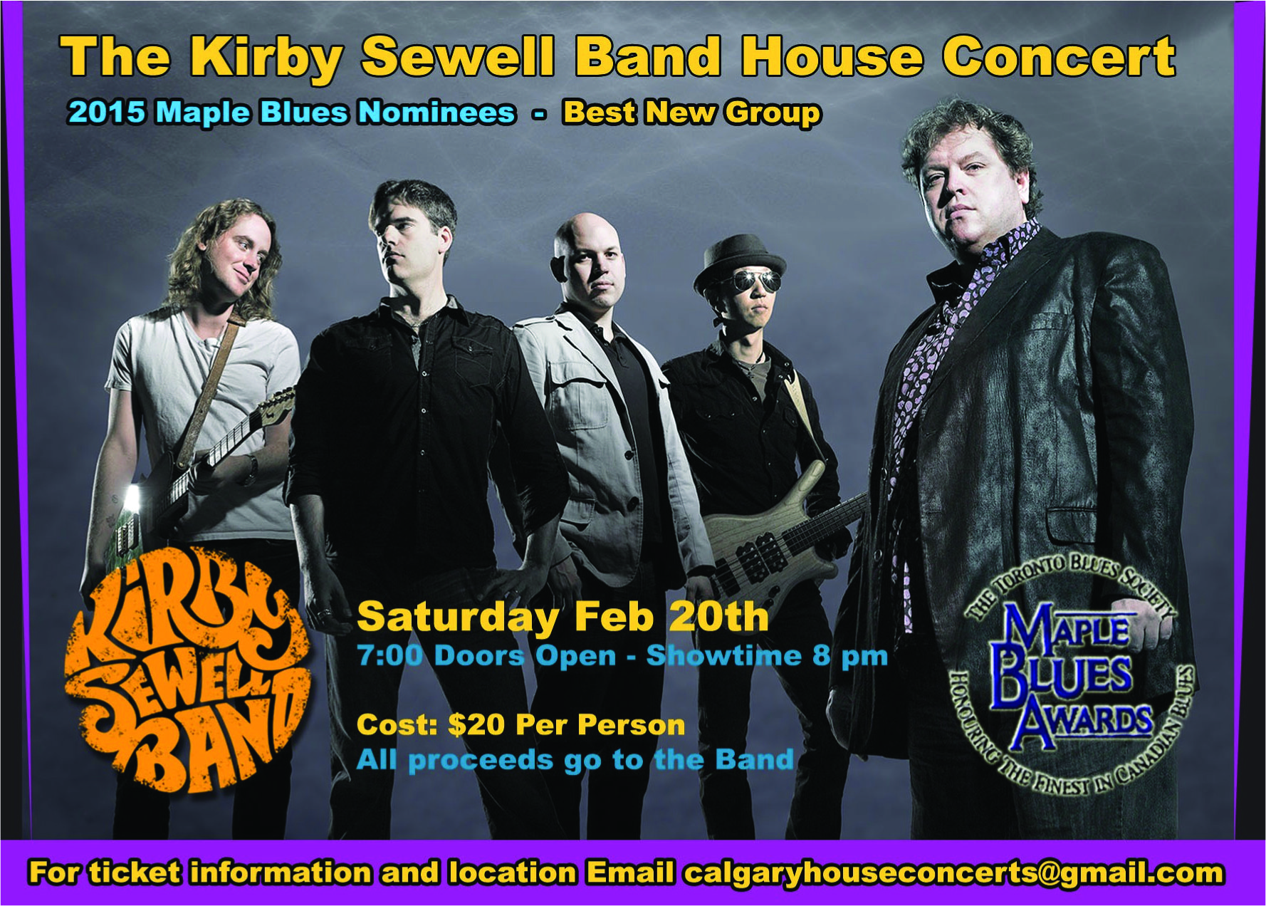 The Kirby Sewell Band House Concert February 20, 2016
