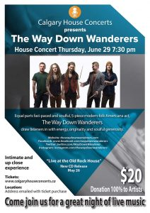 The Way Down Wanderers House Concert