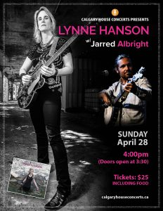 Lynne Hanson w/Jarred Albright House Concert: April 28, 2019