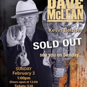 Big Dave McLean - Calgary House Concerts - Sold Out
