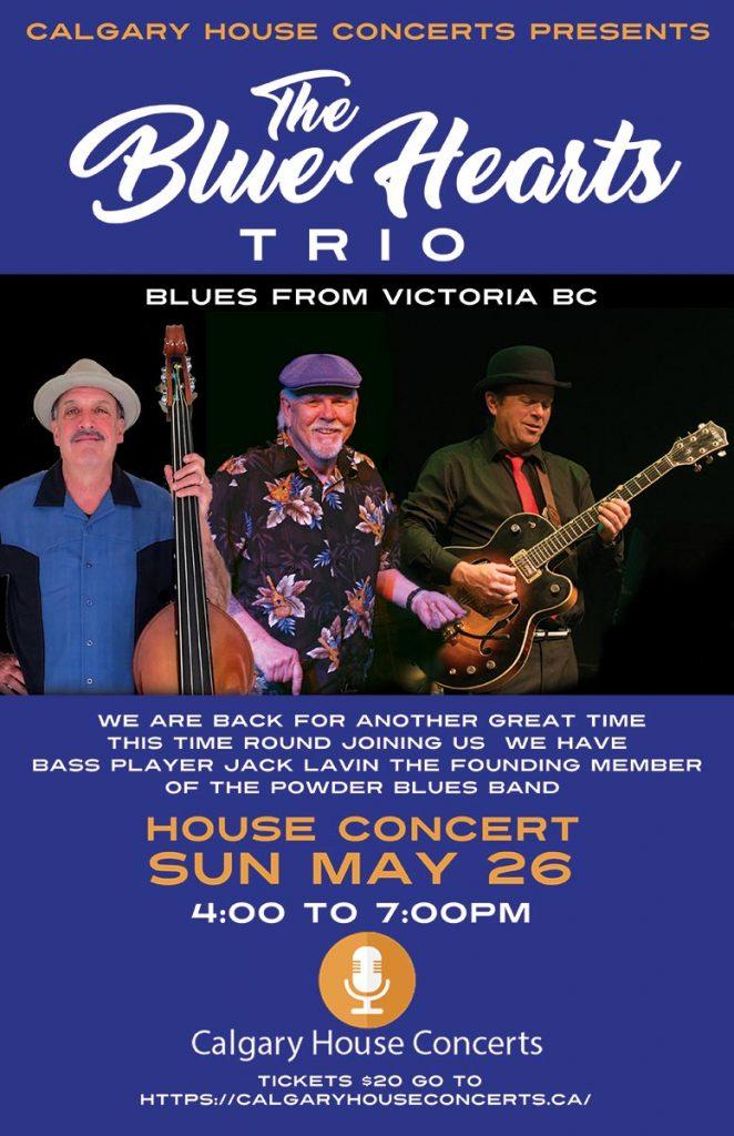 The Blue Hearts at Calgary House Concerts May 26, 2019